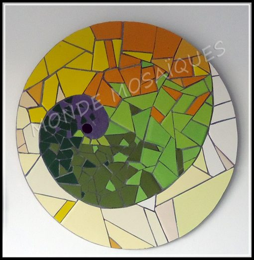 Espiral en mosaico aureo