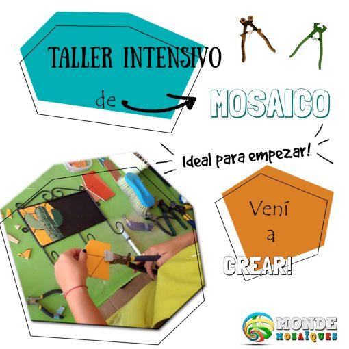 taller curso flyer mosaico
