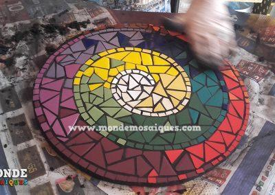 Hermoso espiral azulejos coloridos