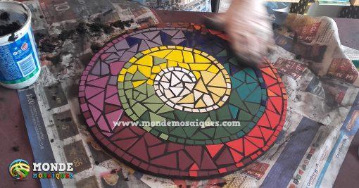 espiral azulejos empastinando