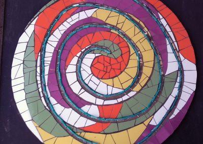 Espiral Mosaico. Colores, espejos