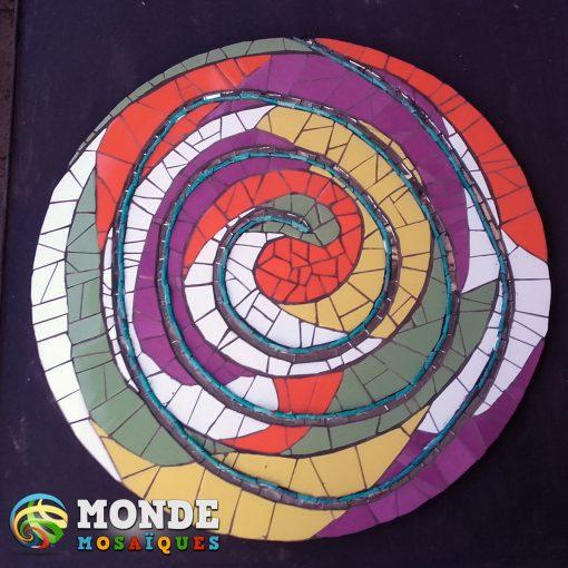 espiral mosaico azulejos venecitas espejos