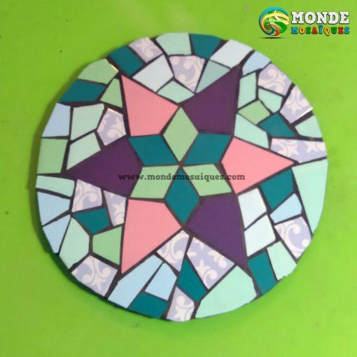 Mandala Estrella Gaudi mosaico