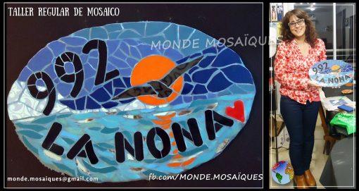 Mosaico sobre cemento