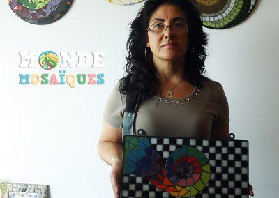 Sandra y su perchero con espiral