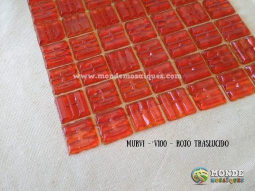 plancha venecitas rojas traslucidas