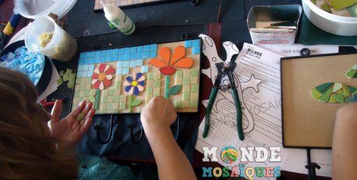Uso de herramientas para mosaico