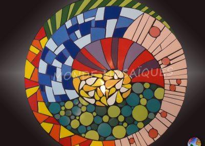 Tapa de mesa espiral