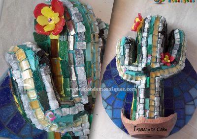 Cactus 3D con marmoles, vidrios, y mas