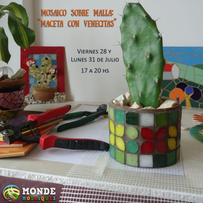 maceta venecitas malla mosaico
