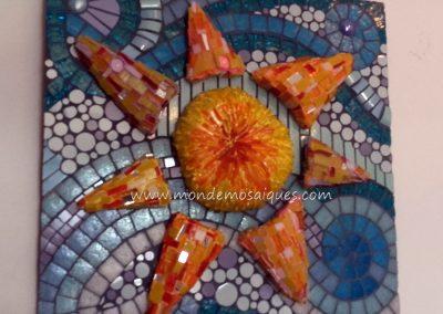 Mosaico con volumen. Trabajo de Susana