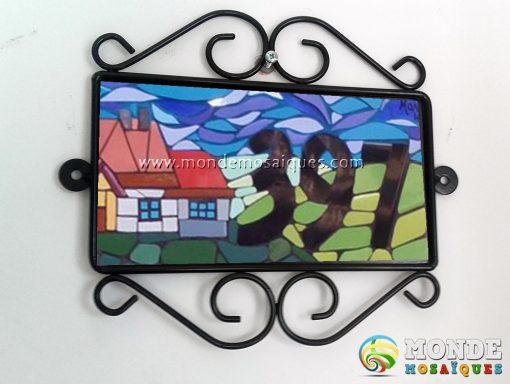 Cartel hierro y chapa para mosaico