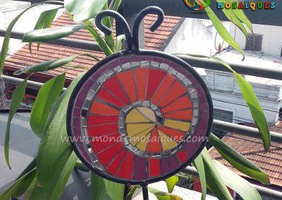 Tutor chapa - Espiral mosaico