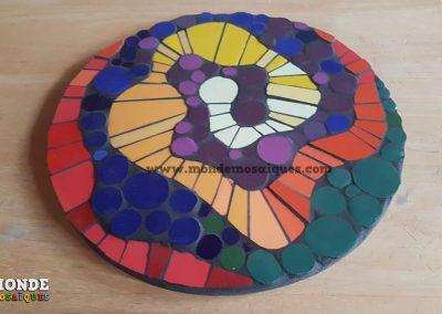 """Espiral en mosaico """"desdibujado"""""""