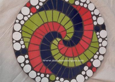 Espiral logarítmico con azulejos
