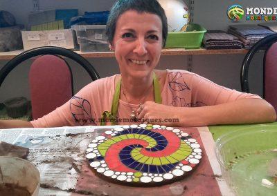 Espiral en mosaico con azulejos
