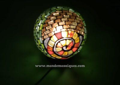 Luminaria en mosaico