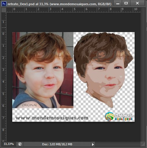 Photoshop. Boceto Retrato Dex