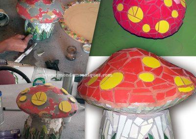 Hongo Cemento con Mosaico