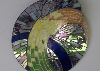 Vitromosaico circular superpuesto