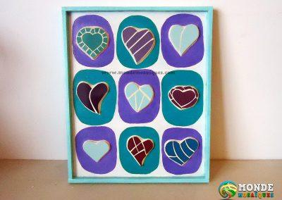 Mosaico corazones Decorativo