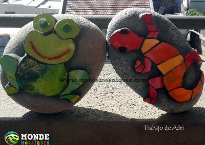 Mosaico sobre piedras