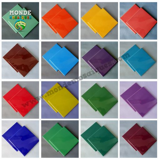 Azulejos colores para mosaiquismo