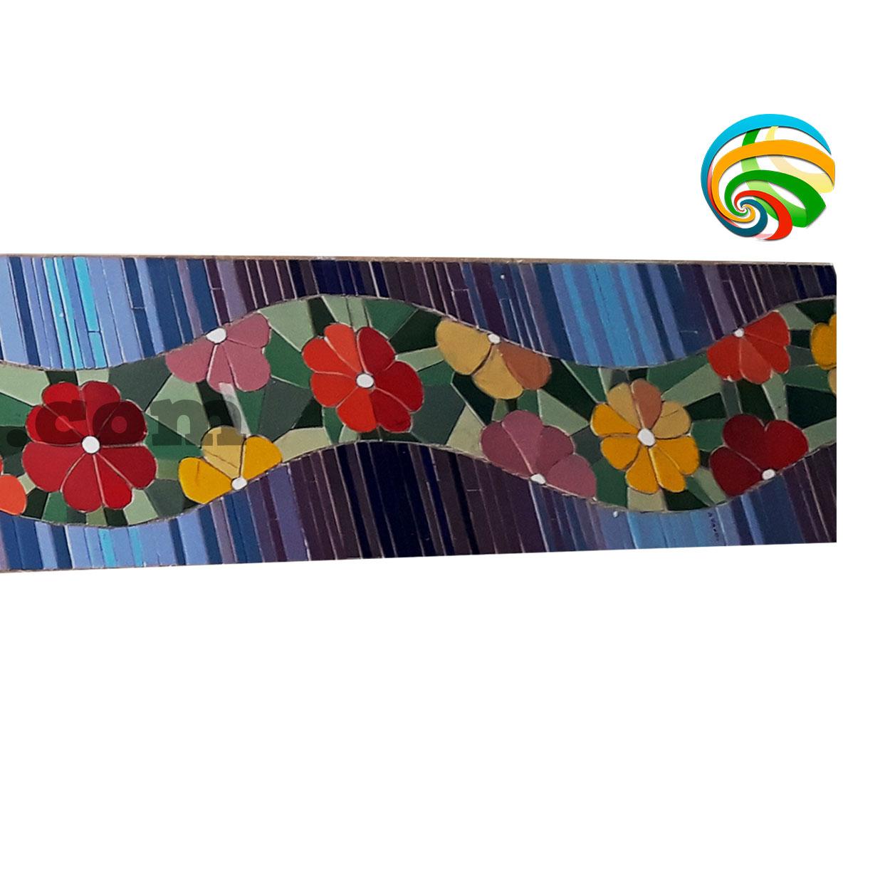 Ondas Mosaico Camino Flores