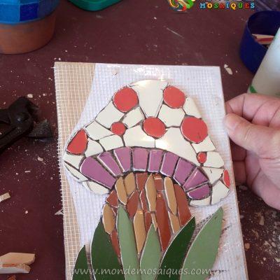 Hongo azulejos malla mosaico