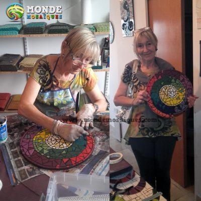 espiral mosaico azulejos y mucho color