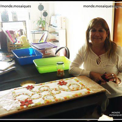 Mesa Mosaico Flor - Taller Regular Jueves
