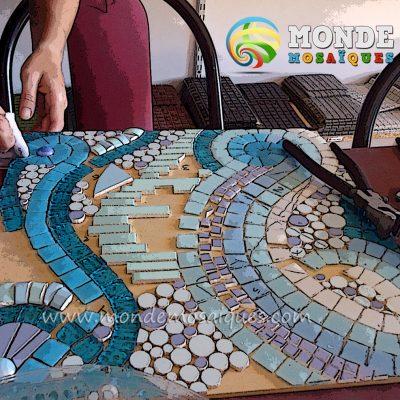 mosaico andamento organico y fluido
