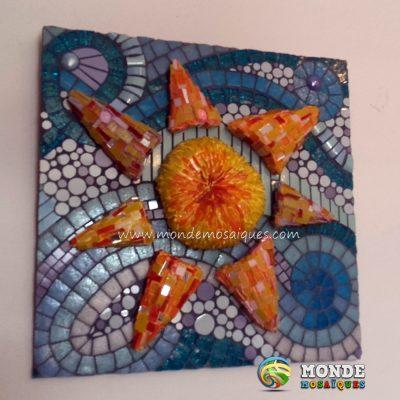 mosaico sobre mosaico. 3d texturas volumen