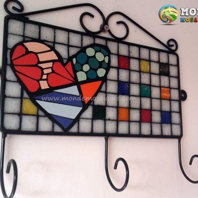 mosaico sobre chapa perchero
