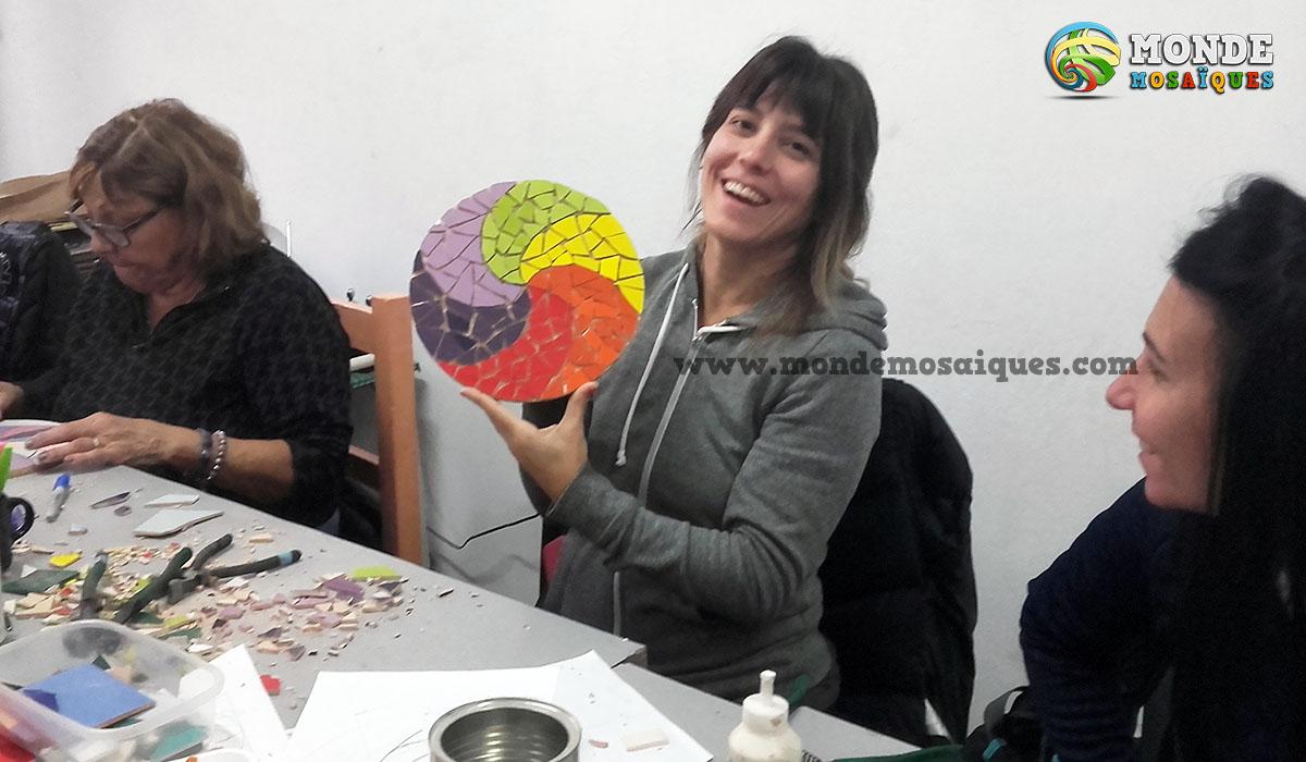 Taller de espirales en mosaico
