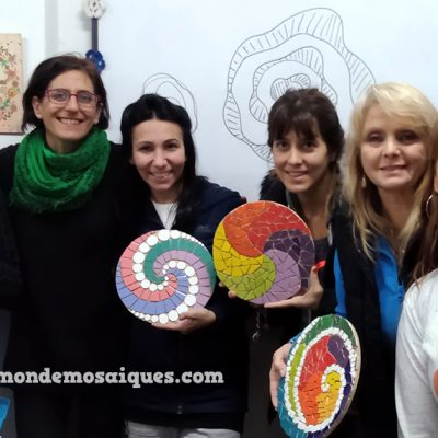 espirales azulejos colores alumnas
