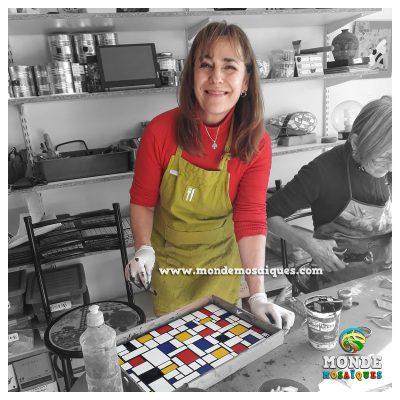 Bandeja Mondrian Azulejos Mosaico