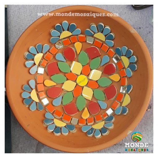 Mosaico sobre terracota