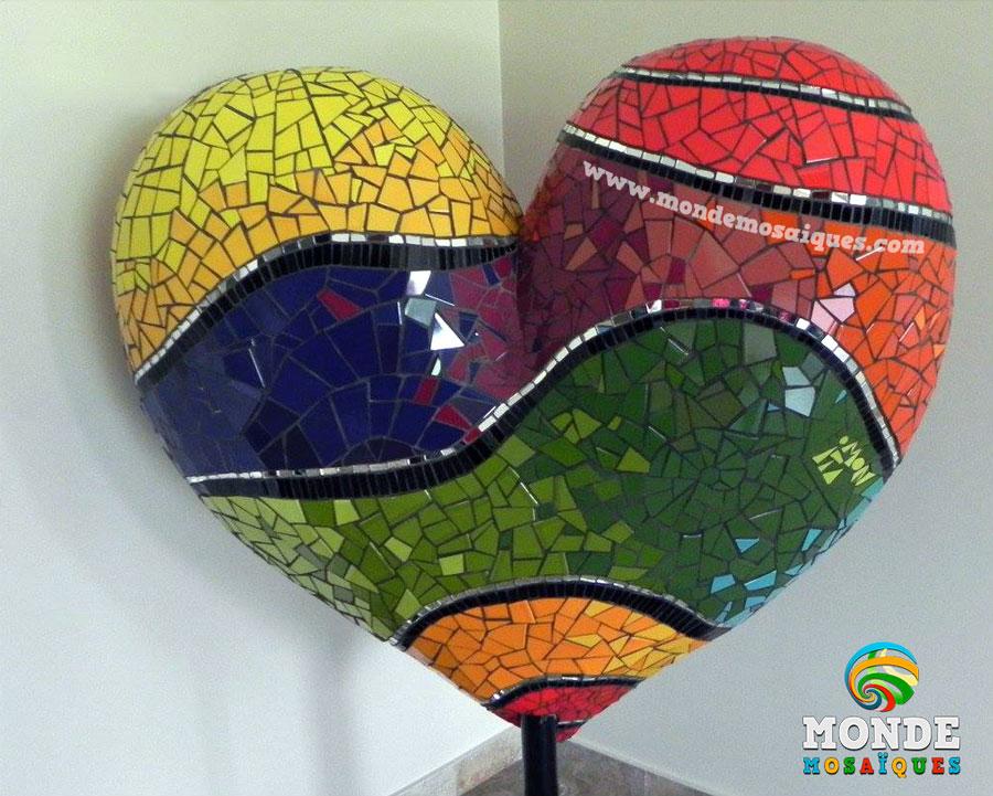 Trabajo en mosaico sobre telgopor 3D