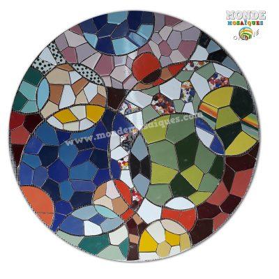 mosaico sobre malla circulo
