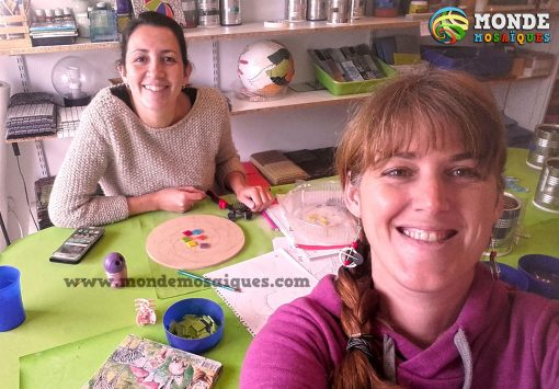 taller espirales en mosaico