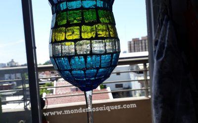 Mosaico sobre vidrio